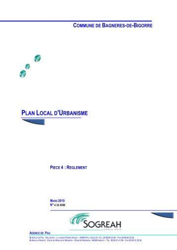 Pièce 4 - Règlement PLU Bagnères de Bigorre