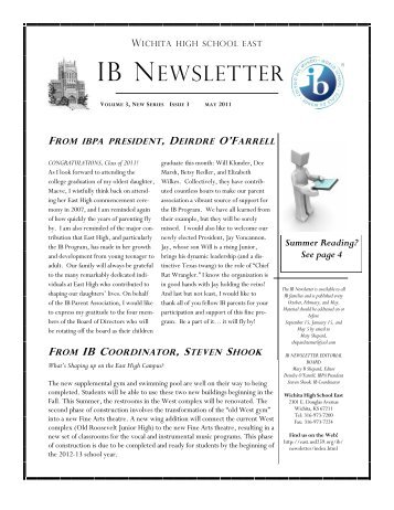 May 2011 IB Newsletter - East High School