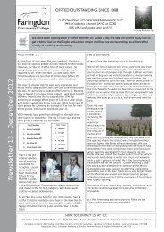 Newsletter 13 - December 2012 - Faringdon Community College