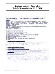 Zápisy z jednání - Zápis z 24. jednání konaného dne 12. 2. 2004
