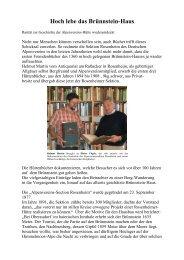 Hoch lebe das Brünnstein-Haus - Sektion Rosenheim
