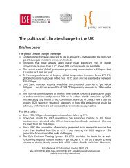 The Politics of Climate Change: Briefing Paper - Policy Network