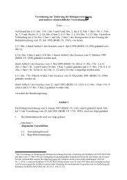 Entwurf einer Verordnung zur Änderung der RöV vom 15.05.2002