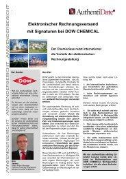 Elektronischer Rechnungsversand mit Signaturen bei DOW ...