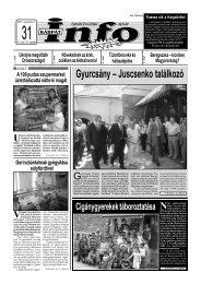 Gyurcsány – Juscsenko találkozó - Kárpátinfo.net
