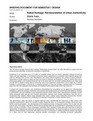 Naked Heritage: Reinterpretation of Urban Authenticity - MArch(Prof ...