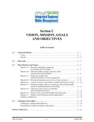 Section C VISION, MISSION, GOALS AND ... - San Diego IRWM