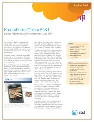 ProntoForms from AT&T