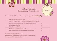 reply card - Chester County Community Foundation