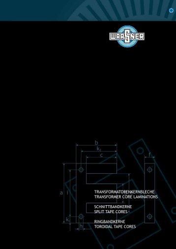 transformatorenkernbleche transformer core laminations - Waasner