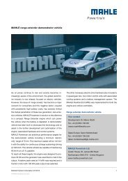 Compact Range Extender Vehicle Brochure - Mahle Powertrain Ltd