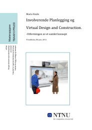 Involverende Planlegging og Virtual Design and Construction.