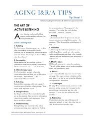 Tip sheet on Active Listening - MitoAction