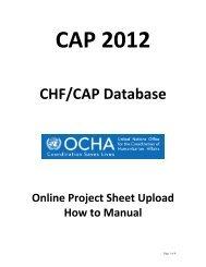 CHF/CAP Database - OCHANet