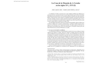 La Casa de la Moneda de A Coruña en los siglos XV y XVI - Anuario ...