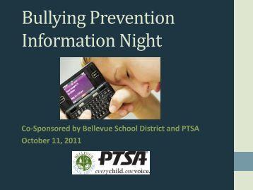 Bullying Prevention Information Night - Bellevue School District
