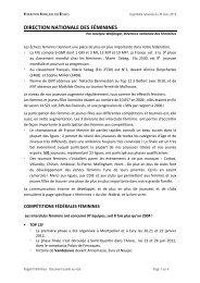 Féminines - Fédération Française des Échecs