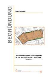 Vorhabenbezogener Bebauungsplan Nr. 30 - Stadt Dillingen