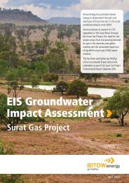 EIS Groundwater Impact Assessment - Arrow Energy