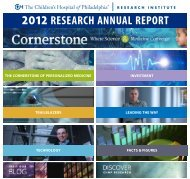 2012 RESEARCH ANNUAL REPORT - The Children's Hospital of ...