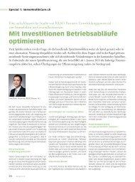 Mit Investitionen Betriebsabläufe optimieren - clinicum