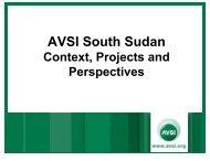 AVSI South Sudan