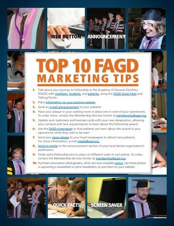 MArkeTinG TiPs - Academy of General Dentistry