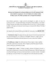estágio - Faculdade de Comunicação e Artes - PUC Minas