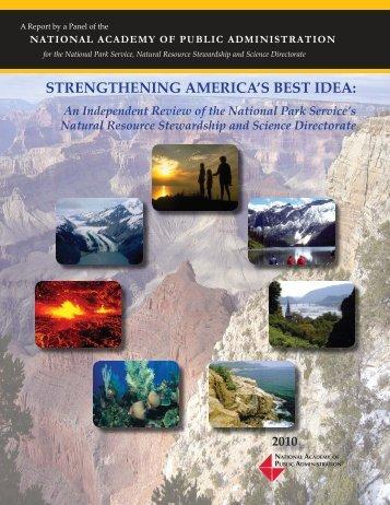 strengthening america's best idea - National Academy of Public ...