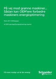 På vej mod grønne maskiner… Sådan kan OEM ... - Schneider Electric