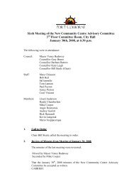Sixth Meeting of the New Community Centre Advisory Committee 3 ...
