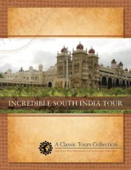 INCREDIBLE SOUTH INDIA TOUR - A Classic Tour Collection