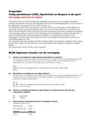 Vragenlijst Veilig sportklimaat (VSK), Sportiviteit en ... - Mulier Instituut