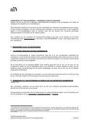 Informatiebrochure voor de garant - Vreemdelingenzaken