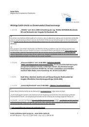 Übersicht über wichtige Urteile des Europäischen ... - Heide Rühle