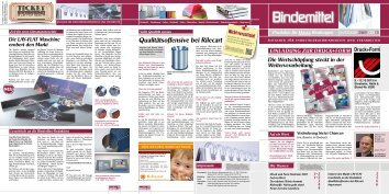 Bindemittel - BINDERFLEX Komplettanbieter für (Industrie-)