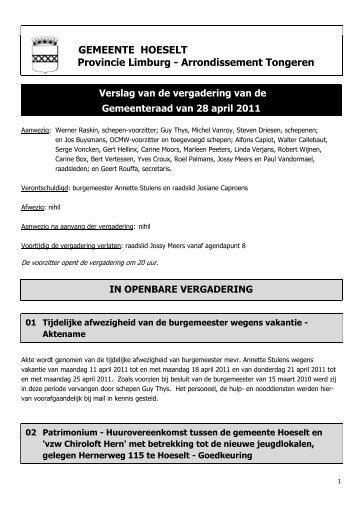 GEMEENTE HOESELT Provincie Limburg ... - Hoeselt.Be