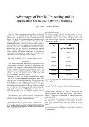 Advantages of Parallel Processing and its application for neural ...