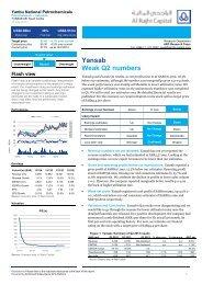 Yansab Weak Q2 numbers - Al Rajhi Capital