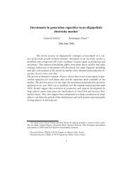 Investments in generation capacities in an oligopolistic electricity ...