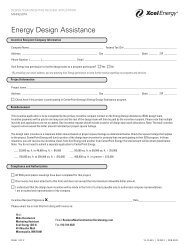 Design Team Reimbursement Form - Xcel Energy