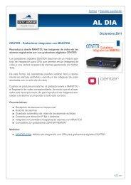 Grabadores digitales integrados con MANITOU - CCTV Center