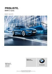 Last ned. Gyldig prisliste for BMW 3-serie Sedan (PDF).