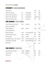 bicchiere / glas vini bianchi/ vita viner vini rosato / rosévin