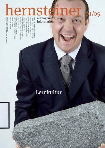 Lernkultur 2009, Ausgabe 1 - Hernstein Institut für Management und ...