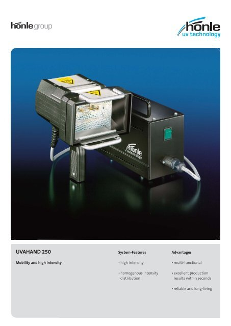 Product information UVAHAND 250 - Dr. Hönle AG