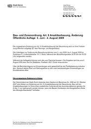 Bau- und Zonenordnung, Art. 8 Arealüberbauung ... - Stadt Zürich