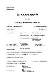 Protokoll vom 5.11.2007 (94 KB) - .PDF - Natters