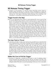 8E Release Timing Trigger - Teamswin.net