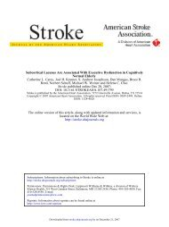 Subcortical Lacunes are Associated with Executive Dysfunction in ...